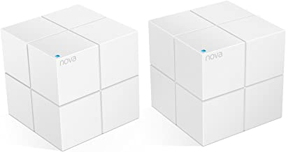 Tenda Nova Whole Home Mesh WiFi System - Replaces Gigabit AC WiFi Router Extenders, Dual Band, Works Amazon Alexa, Built Smart Home, Up to 4,000 sq. ft. Coverage (MW6 2-PK).