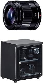 パナソニック 単焦点 中望遠レンズ マイクロフォーサーズ用 ルミックス G 42.5mm/ F1.7 ASPH. / POWER O.I.S. ブラック H-HS043-K + HAKUBA 電子防湿庫 E-ドライボックス 40リットル KED-40セット