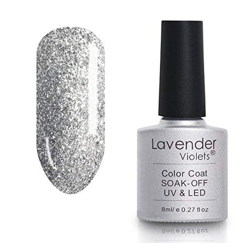 Soak-off UV LED UV Gel Polish 8ml Glitter Silver