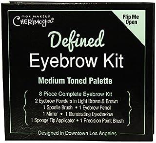 Max Makeup Cherimoya Defined Eyebrow Kit, Medium Tone