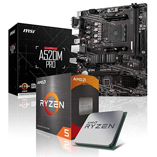 Memory PC Aufrüst-Kit Bundle AMD Ryzen 5 5600X 6X 3.7 GHz, 16 GB DDR4, MSI A520M-A Pro, komplett fertig montiert inkl. Bios Update und getestet