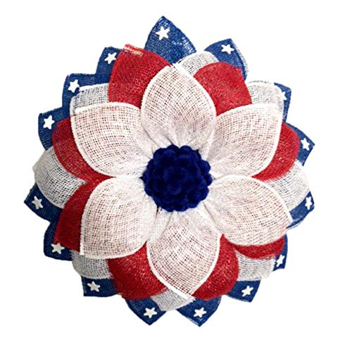 4th Of July Patriotic Floral Wreaths For Front Door Outside Decor 4th Of July Decorations Festival Garland Porch For Memorial Day Veterans Day Ornaments Gifts Independence Day Memorial Wreath US
