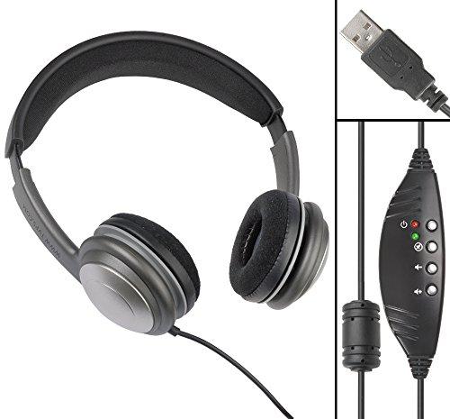 ECS WordSlinger USB Overhead Transcription Headset
