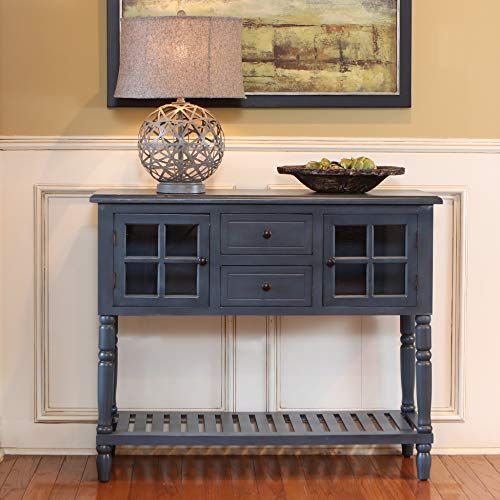 Decor Therapy Accent Table, Antique Navy