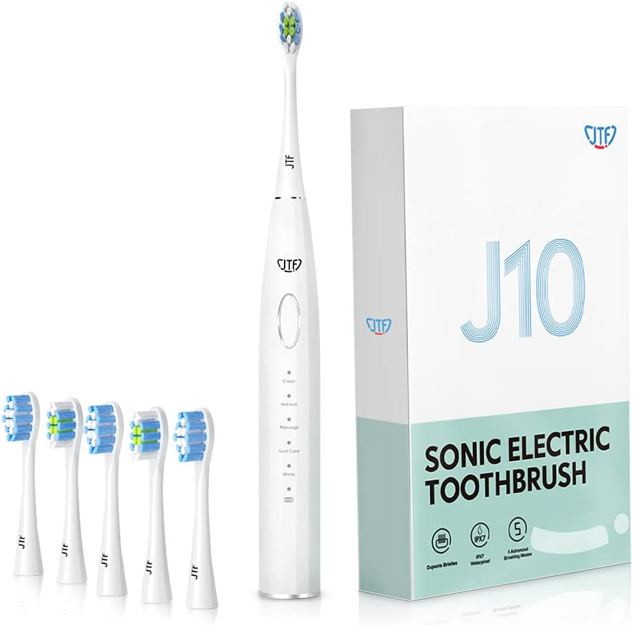 JTF NEW before selling Electric Max 80% OFF Toothbrush Toothbrushes Adults Recha for