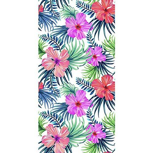 CheeseandU Thick Soft Pool Beach Towel Hawaiian Tropical Flowers Pineapple Flamingo Large Microfiber Terry Blanket Picnic Carpet Yoga Mat Boho Tablecloth for Women Girls 60