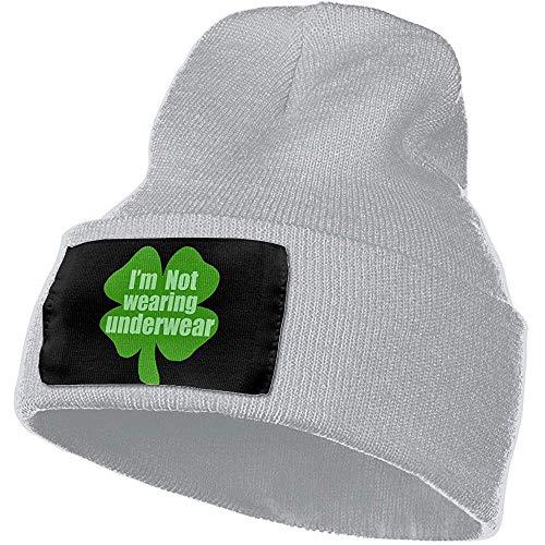 Ik drage geen ondergoed mannen vrouwen winter beanie - Unisex Cuffed Plain Schedel gebreide muts Cap