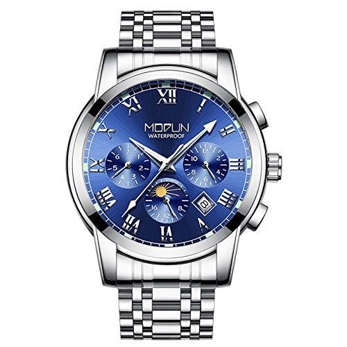 Reloj de Pulsera mecánico para Hombre, Correa automática con Esfera de aleación de Acero, Reloj de Pulsera mecánico para Hombre-B