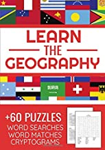 Learn The Geography: Challenging Puzzle Book   Word Searches, Word Matches & Cryptograms   Gift for Summer & Vacations