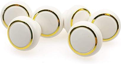 Liten plast möbelknopp möbelhandtag möbelknopp uppsättning av 6 vit 28 mm jay knapp universal möbelknoppar skåp, lådor,
