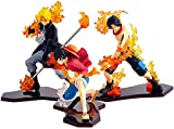 UanPlee-SC - Statuetta One Piece Figuarts Zero 12 cm Ace Sabo Monkey Luffy Promise of Brothers