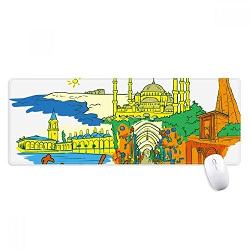 Turkije Istanbul Top Carboplatin aquarel anti-slip muismat grote uitgebreide spel kantoor getiteld randen Computer Mat Gift