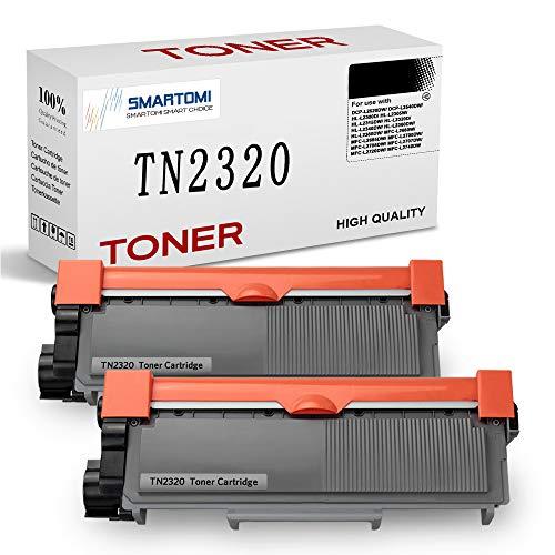 SMARTOMI TN2320 TN2310 Reemplazo para Brother TN-2320 TN-2310 Cartucho de tóner para Brother HL-L2300D HL-L2320D HL-L2340DW HL-L2360DN HL-L2360DW HL-L2365DW MFC-L2700DW DCP-L2500D (2 Negro)