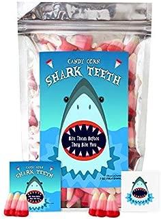 Shark Teeth Candy Corn - Funny Halloween Unique Birthday Candy for Girl, Boy & Teens Gift