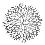 Kaloogo® Obstschale/Brotkorb/Dekoschale aus Metall 42cm (Silber) - 4