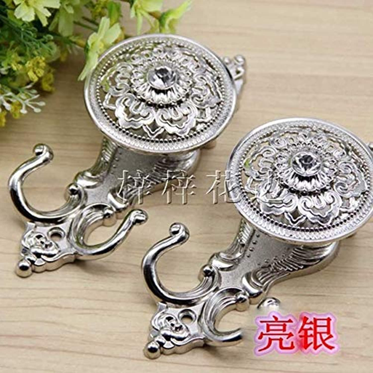Isali Curtain Hanging Hook Hollow Out Ball Style Never Rust Curtain Holder Curtain Accessories Decoration Wholesale Retail CP042 20 - (color  Style3)
