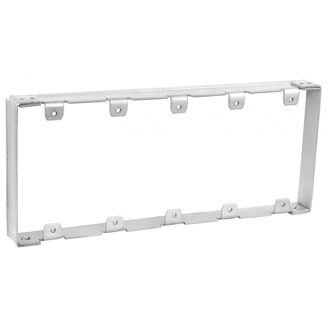 1 Pc, Zinc Plated Steel 5 Gang Multi-Gang Device Extender, 1/2 In. Raised to Finished Wall Surface