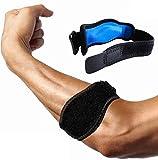 Tutore per gomito del tennista con cuscinetto di compressione–sollievo dal dolore e sostegno per gomito del tennista e del golfista, epicondilite, tendinite. Ottima vestibilità e alle intemperie