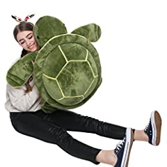 Cute,soft and perfect plush turtle for hugging and snuggling.It's a best friend to accompany and share. Jumbo plush tortoise stuffed with love in Giant House,make a perfect gift for men, women and children for any occasion, from Christmas and Valenti...