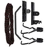 Elevador de techo para bicicleta, resistente a los arañazos, soporte para polea de elevación para bicicleta, fácil instalación fuerte para kayaks