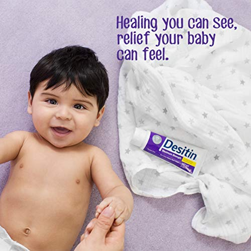 Desitin Maximum Strength Baby Diaper Rash Cream with 40% Zinc Oxide for Treatment, Relief & Prevention, Hypoallergenic, Phthalate- & Paraben-Free Paste, 4.8 oz