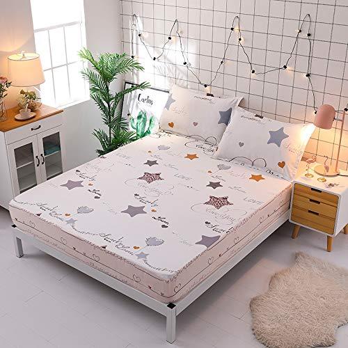 haiba sábana de una sola pieza cubierta protectora de colchón, cubierta de polvo antideslizante, L, 90x190cm