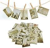32pcs Postales de Viaje Vintage Tarjetas Postales Antigua de Atracciones de Fama Mundial