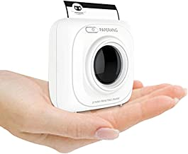 PAPERANG P1 White Mini Wireless Paper Photo Printer Portable Bluetooth Instant Mobile Printer for IPhone/iPad/Mac/Android Devices with Print Papers