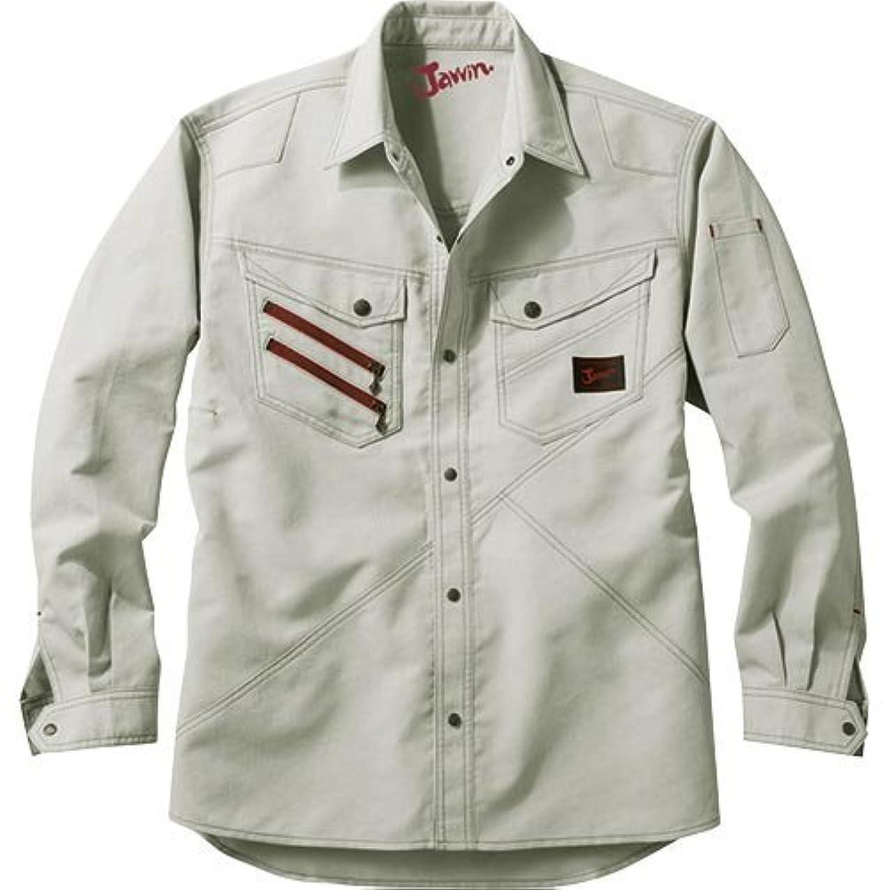 広く風変わりな結核自重堂 Jawin 長袖シャツ 56304 シルバー LLサイズ