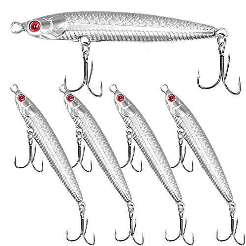 5PCS Tuna Lures Vertical Saltwater Jigs , Glow...