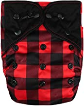 HappyEndings Contoured Day or Night All in One Cloth Diaper (+Pocket) (Lumberjack)