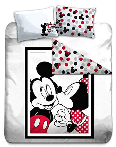Gamesland Disney – Bettwäsche 200 x 200 cm – Mickey & Minnie '100 % Baumwolle