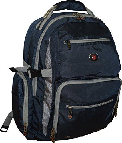"SwissGear Breaker Laptop Backpack with 16"" Laptop Pocket & 10"" Tablet Pocket-Blue"