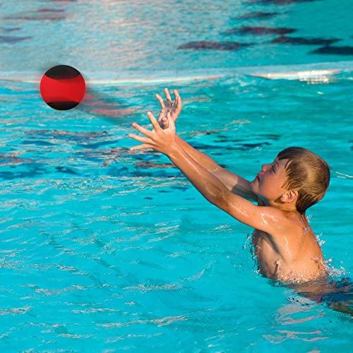 Alomejor Bouncing Water Skim Ball Außenpool Beach Bouncing Sports Game Toy für Freunde der Familie(Schwarz Rot)