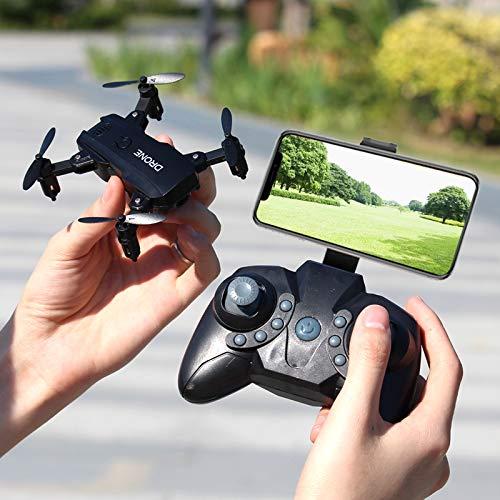 DishyKooker S107 Mini Drone Pieghevole RC 4K FPV Videocamera HD WiFi FPV Dron Selfie RC Elicottero Giocattoli Juguetes per Ragazzi Ragazze Bambini Nice
