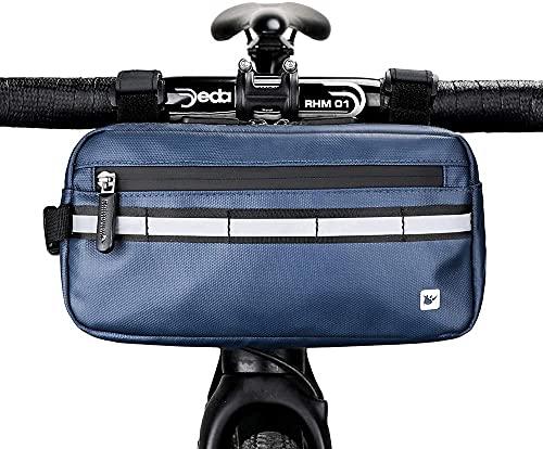 ZMENVL Rhino - Bolsa de mano para bicicleta (tres colores para elegir, color negro, gris azul)