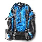 Mochila de gran capacidad 40L Tejidos impermeables Cubiertas de lluvia Antirrobo Camping Senderismo Equipaje al aire libre Bolsa de deporte (Azul)