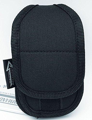 Commando Industries Sacoche ceinture en nylon pour téléphone portable Noir