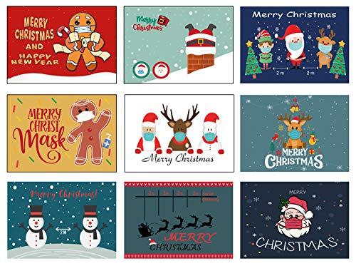 lustig Weihnachtspostkarten Set Weihnachtskarten witzig Weihnachten Vintage Cartoon Comic Karten Postkarten (witzig, 50)