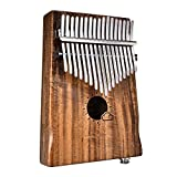 Piano pulgar 17 Key Kalimba Acacia Wood Thumb Finger Piano Link Speaker Pastilla eléctrica con bolsa Cable Calimba Play Instrumento musical de madera