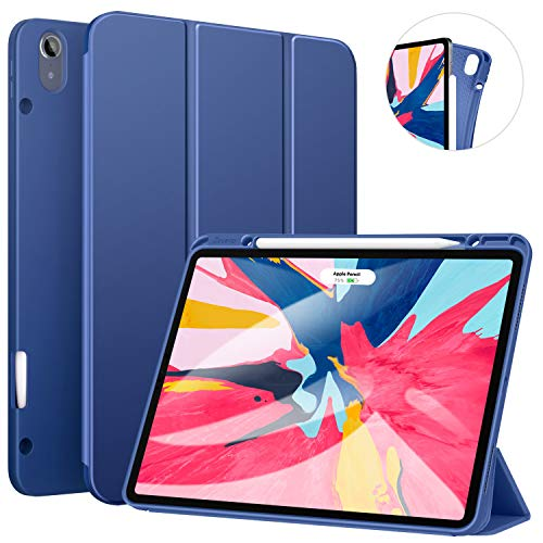ZtotopCase for iPad Pro 12.9 Inch 2018, Full Body Protective Rugged Shockproof Case with iPad Pencil Holder, Auto Sleep/Wake, Support iPad Pencil Charging for iPad Pro 12.9 Inch 3rd Gen – Navy Blue