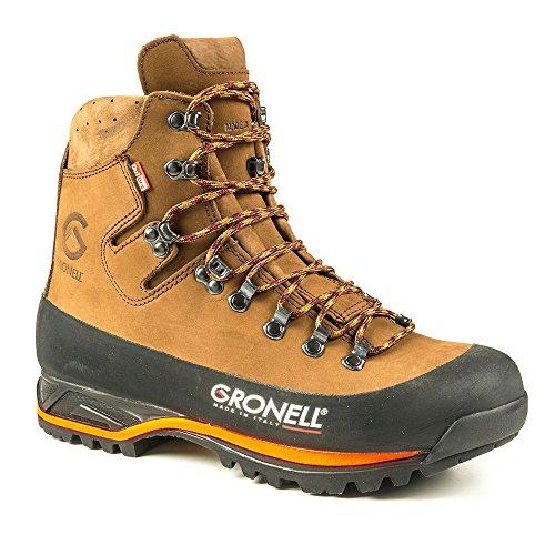 Gronell, stivali da caccia Tibet Hunt Comfort Made in Italy, suola Vibram, Outdry, pelle, protezione dagli oli, Marrone (marrone arancione.), 38 EU
