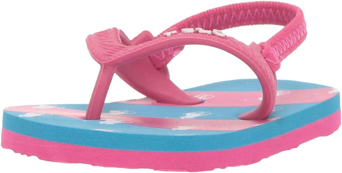 Ralph Lauren Layette Unisex-Child Amino Stripe Flip Flop