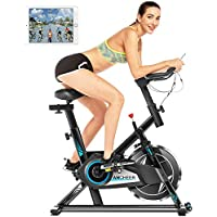 ANCHEER 300 Lbs Weight Capacity Indoor Cycling Exercise Bike