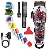 Cortadora de cabello eléctrica profesional sin cable para niños / hombres, juego de kit de corte de cabello, cortadora de barba para hombres, kit de aseo con peines guía