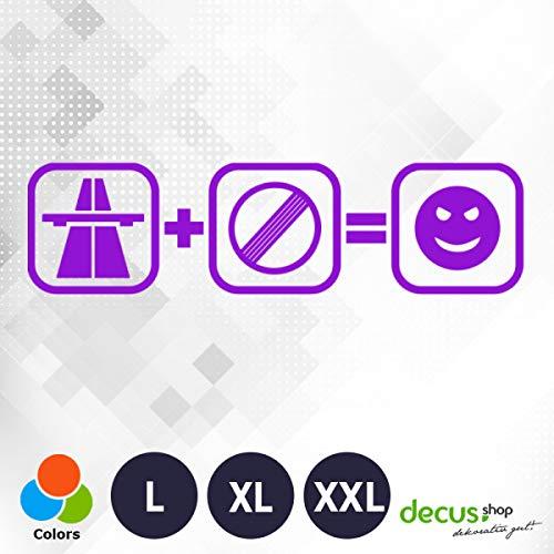 Decus Autobaan GESCHWINDIGKEITSVERHEVING Fun L 1554 // Sticker OEM JDM Style Sticker