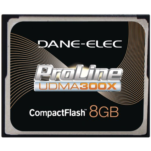 Dane-Elec High Speed 300X 8 GB USB 2.0 Compact Flash Card UDMA DA-CF30-08G-C