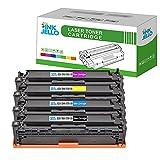 InkJello Compatibile Toner Cartuccia Sostituzione Per HP LaserJet Pro CM1415fn CM1415fnw CP1525n CP1525nw CE320A/1A/2A/3A (Nero,Ciano,Magenta,Giallo 4-Pack