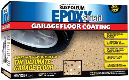 RustOleum 251966 Epoxy Floor Coating Kit - Tan Gloss