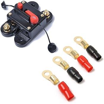Baoblaze DC 12V-24V Universal Car Marine Audio 70AMP Circuit Breaker Fuse Holder Reset Switch Overlord Protection